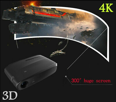 Mini Portable DLP Android 3D WiFi 4K HD Home Cinema Projector 8600 lumens HDMI