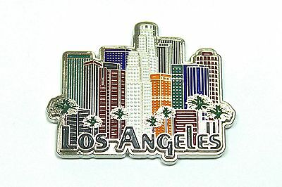 California Los Angeles Downtown skyline, palm trees magnet, Gifts & Souvenirs