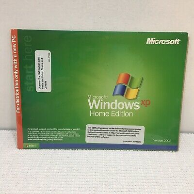Microsoft Windows XP Home Edition Never Used Sealed