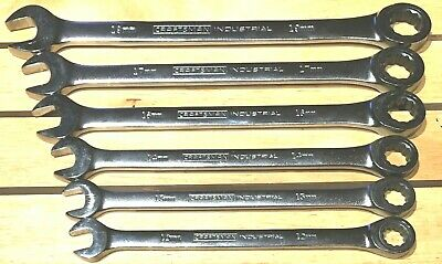6 Pc Craftsman Industrial Metric Ratcheting Gear Type Wrenches 72Teeth Usa Made