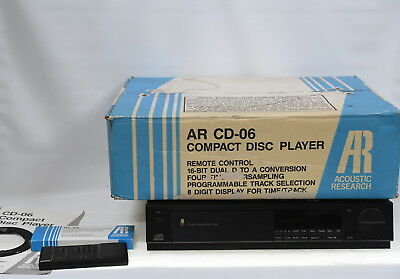 Acoustic Research AR CD-06 CD Player - In Original Box - Made in England