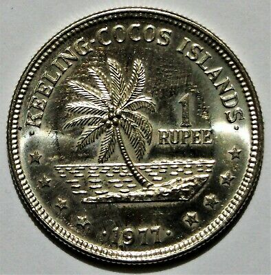 1977 Cocos Keeling Islands 1 Rupee coin - Uncirculated condition