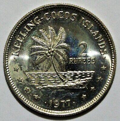 1977 Cocos Keeling Islands 2 Rupees coin - Uncirculated condition