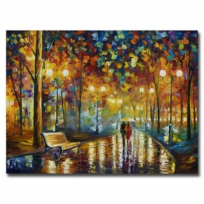 Leonid Afremov Melody Of The Night 24x34inch Famous Silk Poster Large Size
