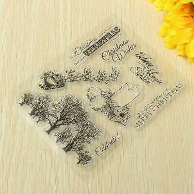 Tree & Bird Cute Silicone Clear Stamp Cling Seal Scrapbooking Craft Album D G8L4