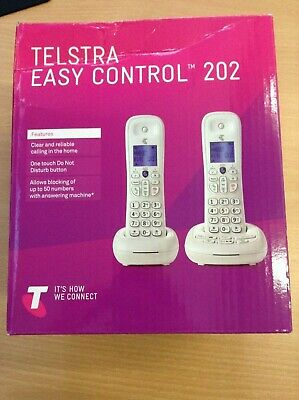Telstra Easy Control  202 Twin Cordless Phone with Block Nuisance Calls