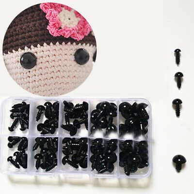 100pc 6-12mm Plastic Safety Eyes DIY Craft for Teddy Bear Doll Animal Puppet Toy