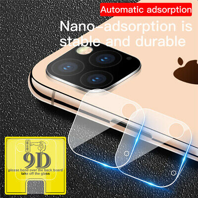 For iPhone 11 Pro Max XR XS Camera Lens 9D Slim Screen Clear Tempered Glass Film