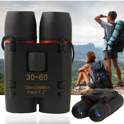 30x 60 Compact Foldable Binoculars Roof Prism Pocket With Carry Case Camping UK