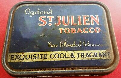 Vintage St. Julians Tobacco Tin - Ogdens - As found