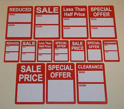 Bright Red SALE / REDUCED / CLEARANCE Price Point Stickers, Sticky Labels, Tags