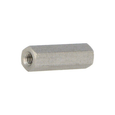 10x TFF-M3X18/DR144 Spacer sleeve Int.thread M3 18mm hexagonal stainless 144X18