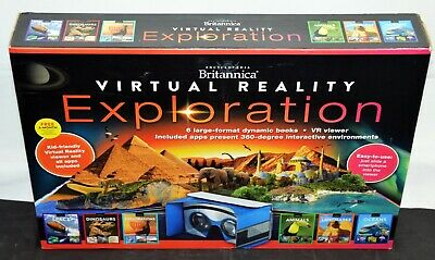 Encyclopedia Britannica Virtual Reality Exploration 6 Books VR Viewer