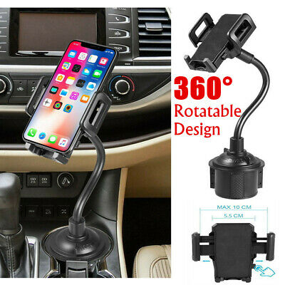 Universal Car Mount Adjustable Cup Holder Stand Cradle For Cell Phone Mobile UK
