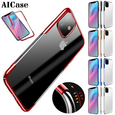 Fr iPhone 11 Pro Max Slim Clear Transparent Case Plating Bumper Shockproof Cover