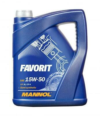 Mannol 5L FAVORIT 15w50 Semi-Synthetic Engine Oil API SL/CF-4 ACEA A3/B3/E2