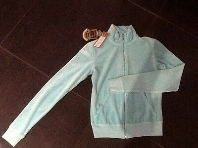 "NWT  Juicy Couture New & Gen. Ladies Small Turquoise Velour Jacket & ""J"" Pull"