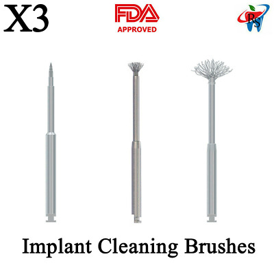 Dental Debridement Peri-Implantitis Implant Surface Threads Cleaning Brush