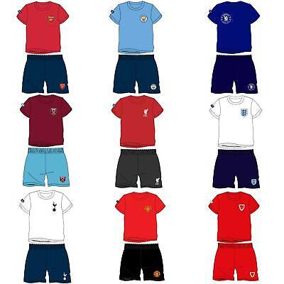 Kids Football Strip Pyjamas Girls Boys Childrens Pyjama Set Age 1-12 Years