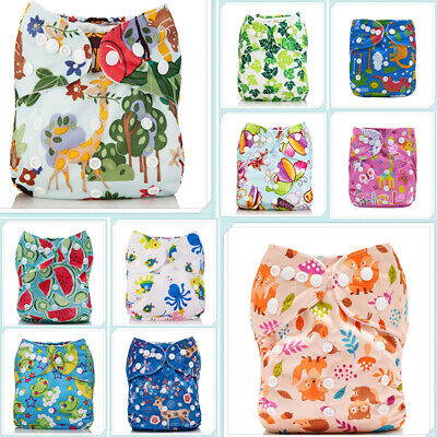 Diapers Nappy+ Insert Reusable 1 4-layers Cloth Baby One Pocket Size ALVA Bamboo