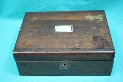 Vintage Portable Wooden Writing Desk with Ink Wells (Hospiscare)