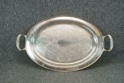 """Oneida Silver Smiths Paul Revere 20"""" Silver Plate Serving Tray"""