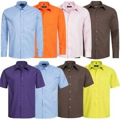 Russell Manches Courtes Homme Classique Business Col Kent Chemise S - 4XL Neuf