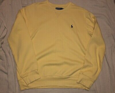 Vintage 90s Polo by Ralph Lauren mustard yellow sweatshirt,size Large