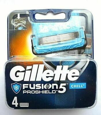 Gillette Fusion 5 Proshield Chill - 4 Pack Genuine no Fakes