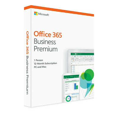 Microsoft Office 365 Business Premium Product key card - 12 months / 1 user / 5