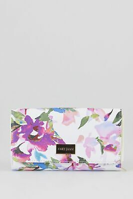 New Laura Jones Floral Large Large Womens Purse Wallet White by-Strandbags