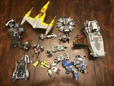 Lego Star Wars Lot (15 Sets, With Manuals) (no Minifigures)