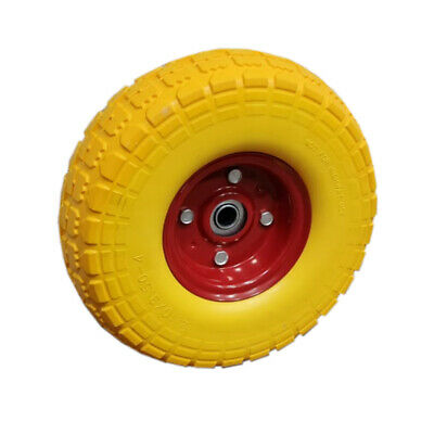 """2X 10"""" Replacement Rubber Tyre Wheel No More Flats Sack Truck Trolley YellowUKES"""