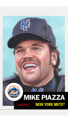 Topps Baseball Living Set Card New York Mets Mike Piazza #235