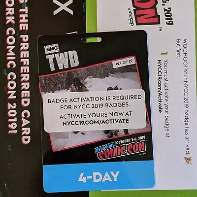 New York Comic Con 2019 NYCC 4 Day Badge Ticket Pass SOLD OUT! FREE SHIPPING!