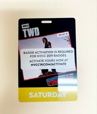 2019 NYCC SATURDAY BADGE/TICKET/PASS~New York Comic Con~You or Me Activate~Oct 5