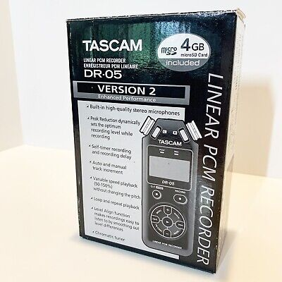 Tascam DR-05 Version 2 Linear PCM Recorder Stereo Handheld Recorder Open Box