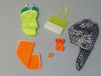 Barbie Fashionista Doll Glam Vacation Summer Clothes Outfit & Accessories