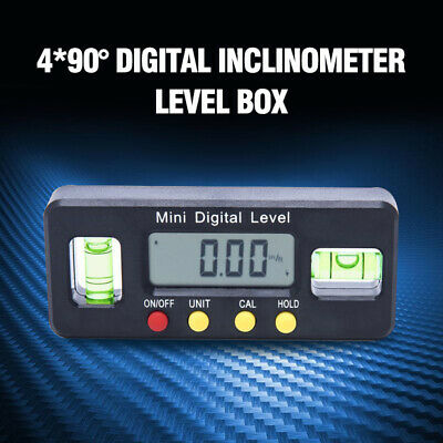 Magnet Digital Inclinometer Level Box Protractor Angle Finder Bevel Gauge 4*90°