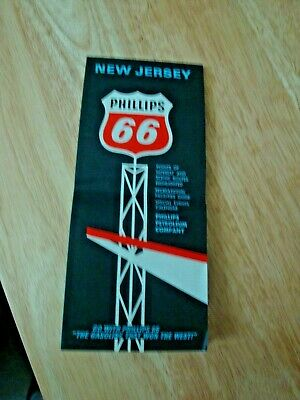 Highway Map of New Jersey by Phillips 66 OIl Co - 1967