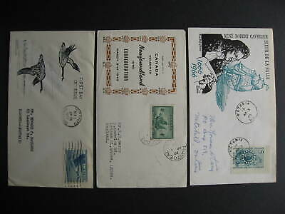 Canada HE, Harford, JCR  cachet 3 FDC first day covers Sc 282, 320, 446