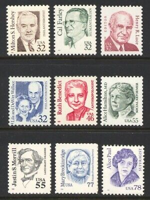 2933-2943 Great Americans Complete Set Mint Xf-Nh