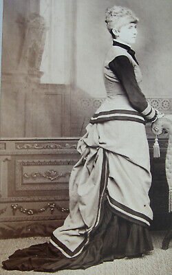 Cabinet Photo Of Lovely Young Woman Wearing A Stunning Bustle Dress New Haven Ct