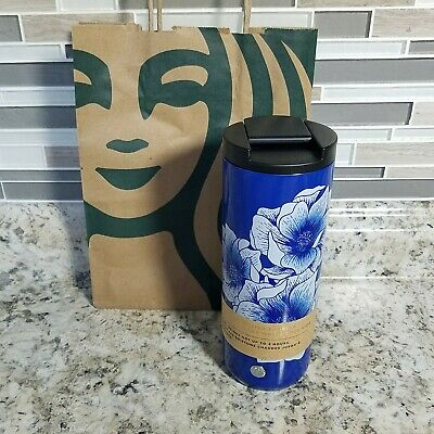 2019 Starbucks Stainless Steel Cup 16 Oz Vacuum Insulated Travel Tumbler Floral