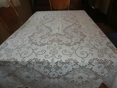"""Vintage Scranton Lace Tablecloth 70"""" x 92"""" White ,  Never Used"""