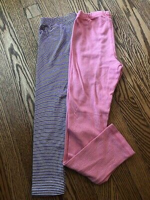 Girl's TEA COLLECTION Striped Leggings - Size 10