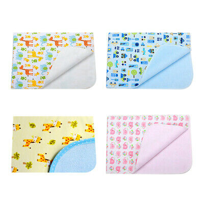 Waterproof Changing Diaper Pad Flannel Washable Baby Infant Urine Mat Nappy US