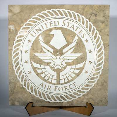 Official US Space Force emblem 12in Laser Engraved Service Plaque 12RDS