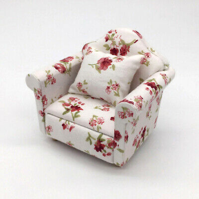 1:12 Dollhouse Miniature Furniture Vintage Sofa Armchair Couch Decor Toy Eyeful