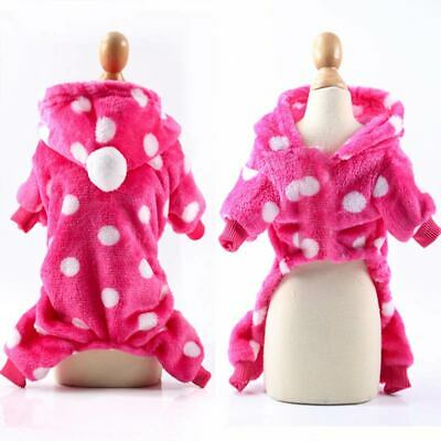 Coat  Dog Puppy  Dog Clothes  Soft  Winter  Pet Fleece Outfits Small  Jumpsuit